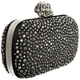 Black Crystal Skull Clutch