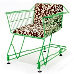 Shopping trolley seat