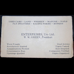 Memorable business card