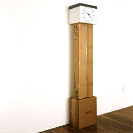 Cardboard grandfather clock