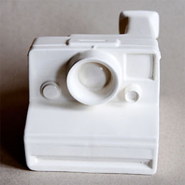 Ceramic Polaroid camera
