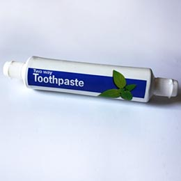 Two way toothpaste