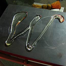 Glass sperm alphabet