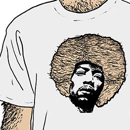 Hairy man t-shirt