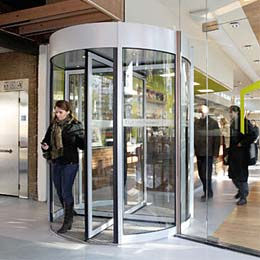 Energy generating revolving door