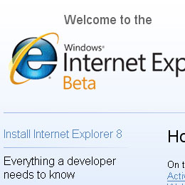 'Light up' your site with IE8