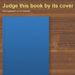 Judge a book by it's cover