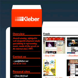 Kleber box web design