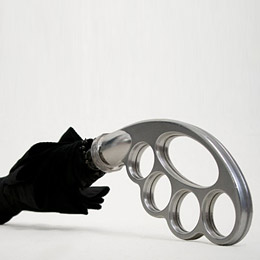 Knuckle duster umbrella