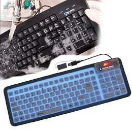 Machine washable keyboard