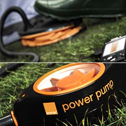 Mobile phone foot pump battery charger