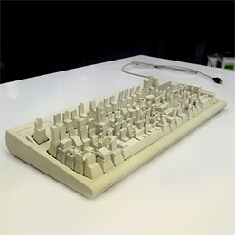 Headstones on a keyboard