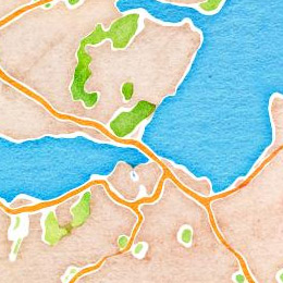 Watercolour maps