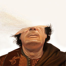 Disappearing Gaddafi