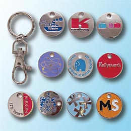 Shopping trolley token keyring