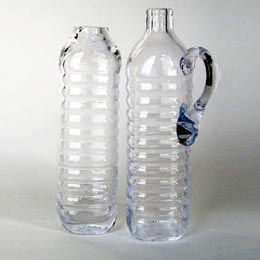 Hand blown water jug