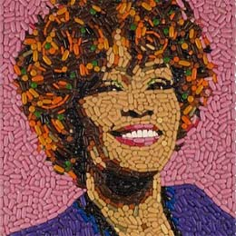 Whitney Houston Pill Portrait