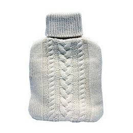 Woolly jumper hot water bottle