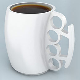 Knuckle-duster coffee mug