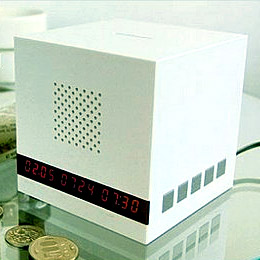 Piggy bank alarm clock